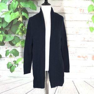 Valerie Bertinelli 100% Merino Wool Navy Cardigan